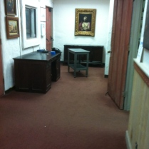"""The """"before"""" view of the foyer."""