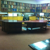 """The director's office """"before"""" view. By the way, that's Maynard Geiger's desk."""