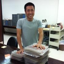 Volunteer Kosuke Fujiwara still smiling after!