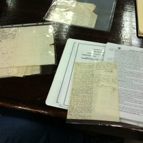 A batch of undated letters which must be reviewed in order to assign them the corresponding call number from the finding guide.