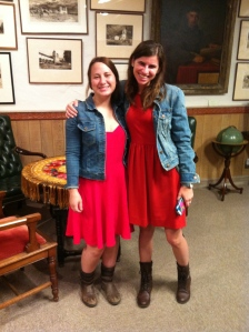 Great synergy resulted in Brittany and Rachel accidentally dressing alike.