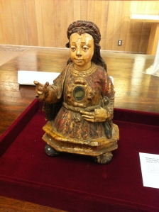 A 17th century reliquary of St. Barbara donated by Harry Downie.